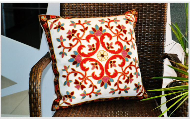 Cushions Embroidered Cotton Pillow Nap Pillow Car Home Office By Pillowcase