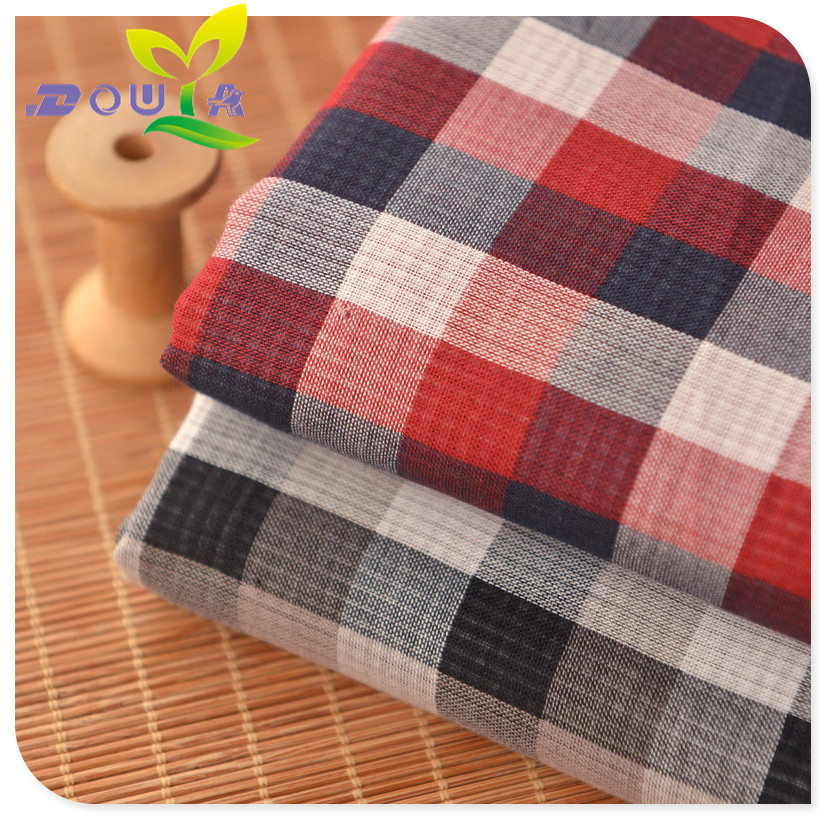 0.5 meters / red, black, double lattice, double layer cotton, pure cotton gauze, summer baby clothing, dress, child bed material
