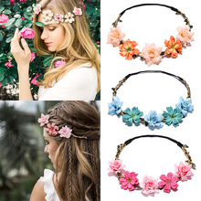 Garland Hair Accessories Diademas Floral Headband Stylish Party Artificial Flower Popular Women 2019 New For Girls 1PC Crown