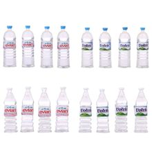OOTDTY Hot Sell 4pcs 1:12 Toy Water Bottles Set Dollhouse Miniature Drinking Accessory