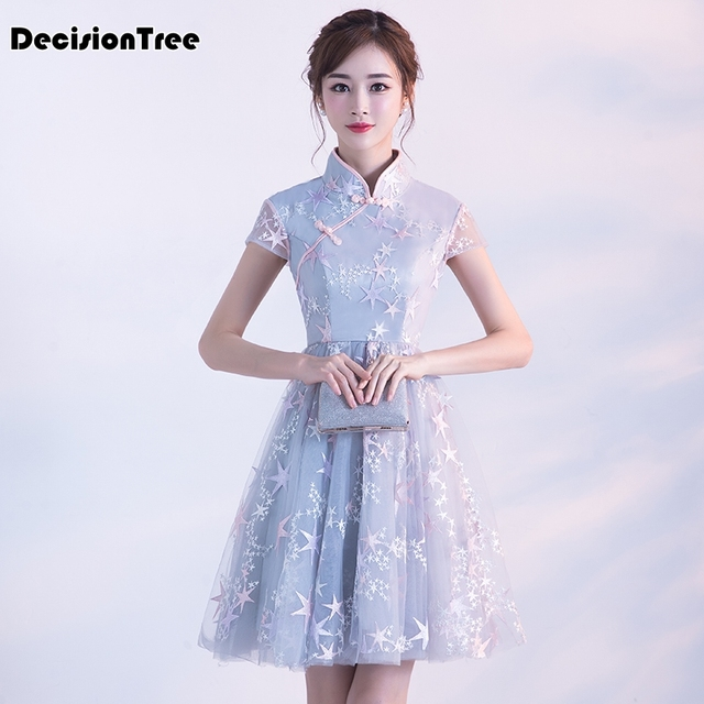 2019 new traditional chinese dress vestido women's satin long cheongsam qipao flower chinese traditional embroidery dress