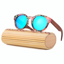 Bamboo Sunglasses Women 2017 Handmade Luxury Wood Sunglasses Polarized Vintage Sun glasses Round Frame Uv400 Oculos LS5001
