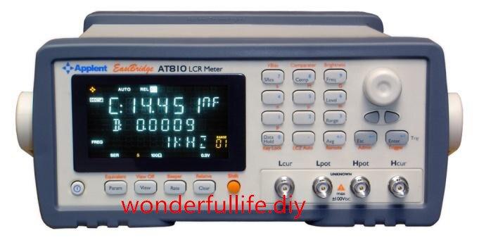 Tout nouveau AT810 numérique LCR compteur précision 0.1% fréquence 100Hz 120Hz 1 kHz 10 kHz