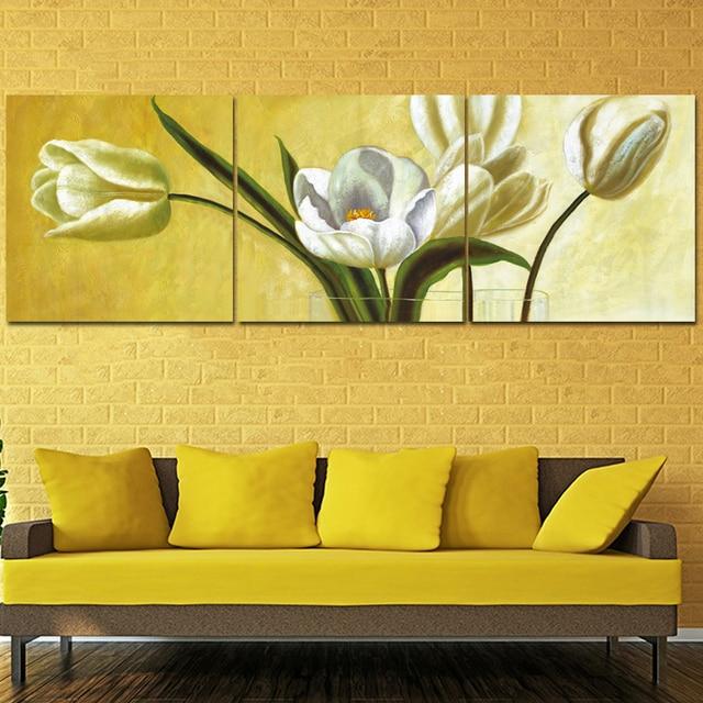 3 Piece Canvas Art Home Decor Rose Flower Wall Art Canvas Painting ...