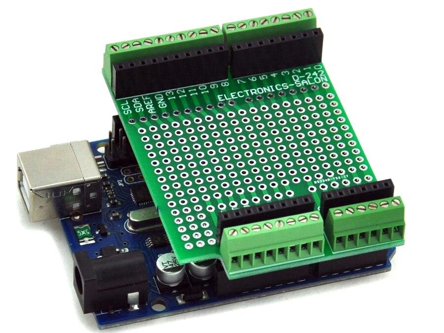 2.54mm Mini Terminal Block. Prototype Screw Shield Board Kit For Arduino UNO R3