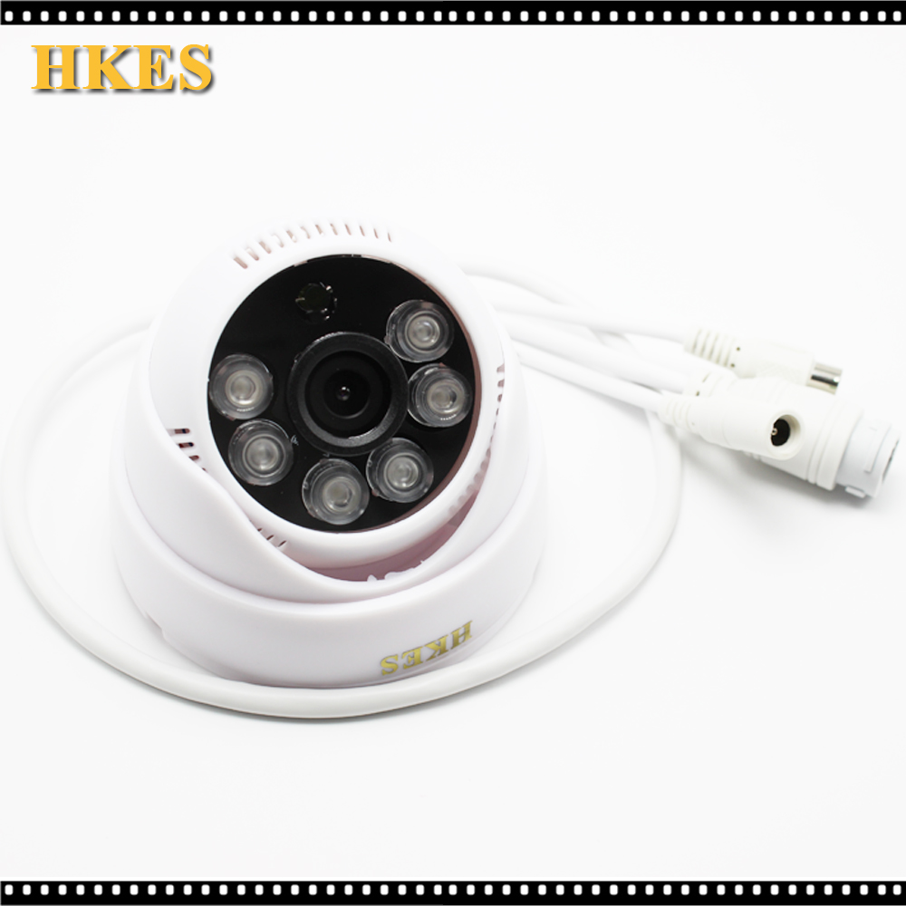HKES 4pcs/lot cctv mini ip camera wired surveillance system home security 720P support onvif audio indoor