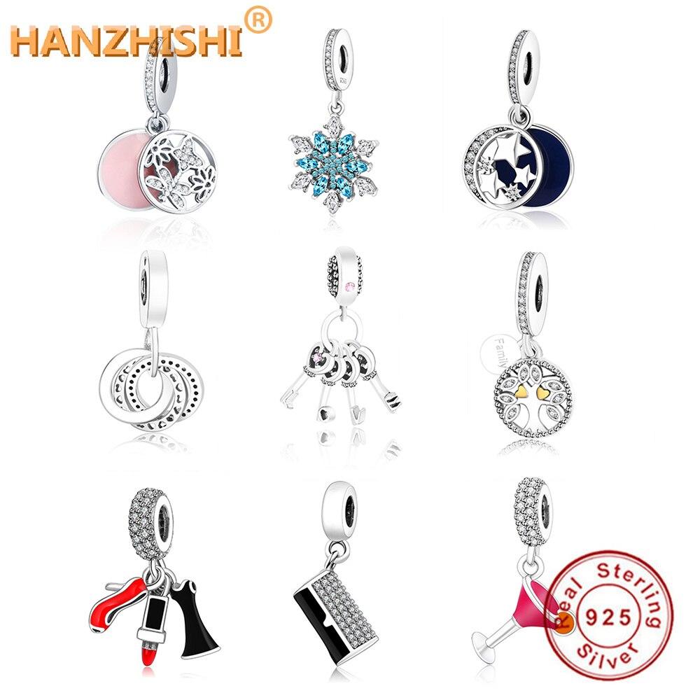 2018 más reciente invierno DIY Fit Original Pandora Charms pulsera de joyería de plata de ley 925 lindo amor estrella cuelga cuentas del encanto