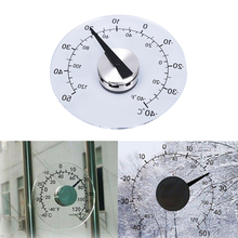Clear Fahrenheit /Celsius Degrees Circular Window Outdoor Thermometer Hygrometer Temperature Humidity Meter Clock Weather Tool