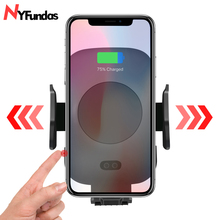 Infrared Clamping Wireless Car Phone Holder Charger For Iphone 11 pro Max XS MAX XR 8 plus X Air Vent Mount Chargeur Induction