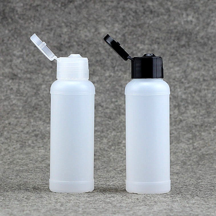 100 X 50ml White Cleanser Shoer Gel Refillable Bottle Soft Squeezable Storage Container Jar Wholesale