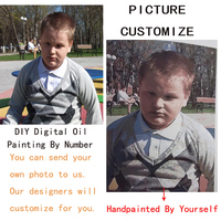Any Size Picture Custom Make Your Own Digital Canvas Oil Painting Framless Oil Painting By Numbers