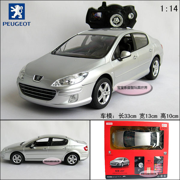 rc 1:14 peugeot 407 silver rechargable remote control car models-in