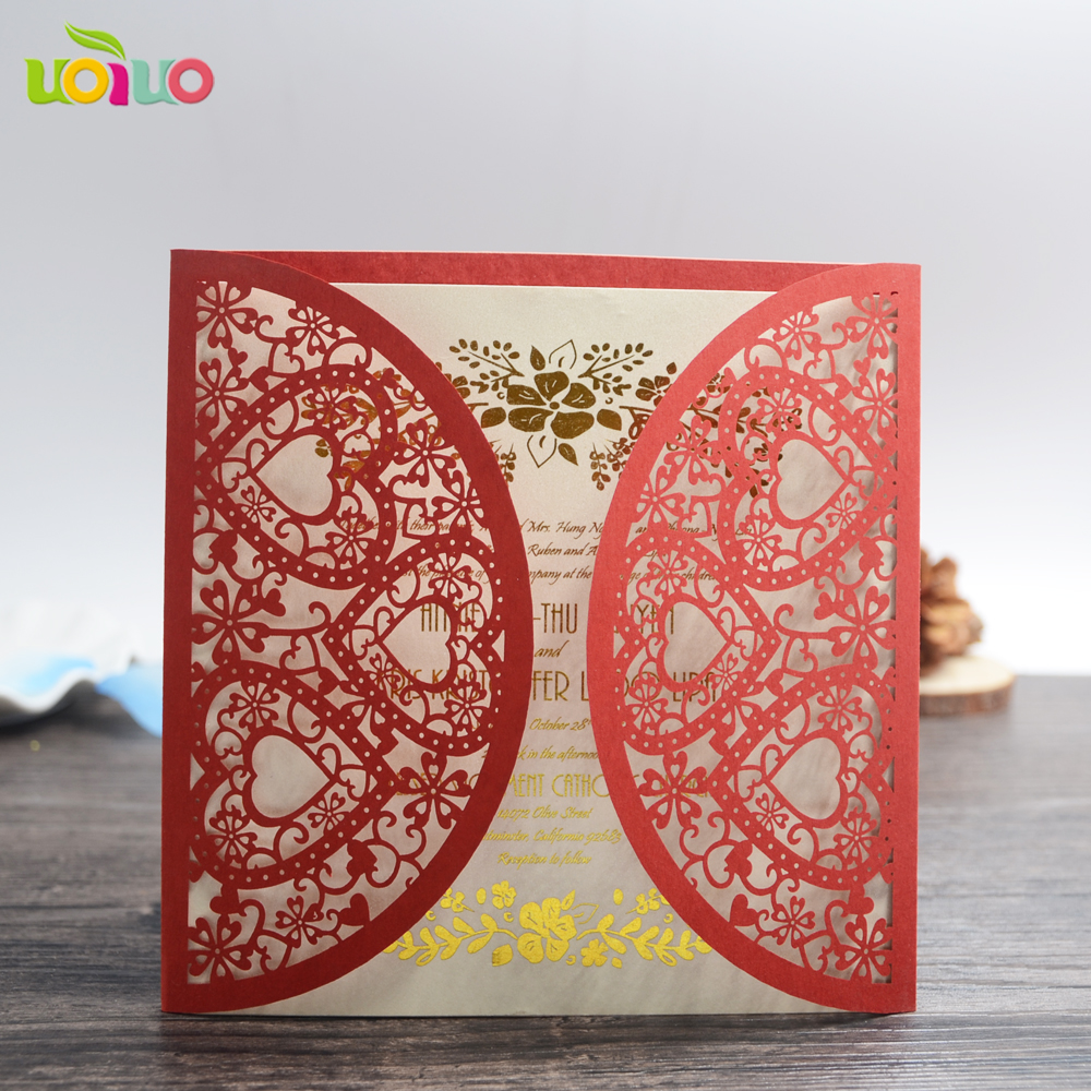 DIY customzied inc48 fold Laser Cut heart flower silver Wedding ...