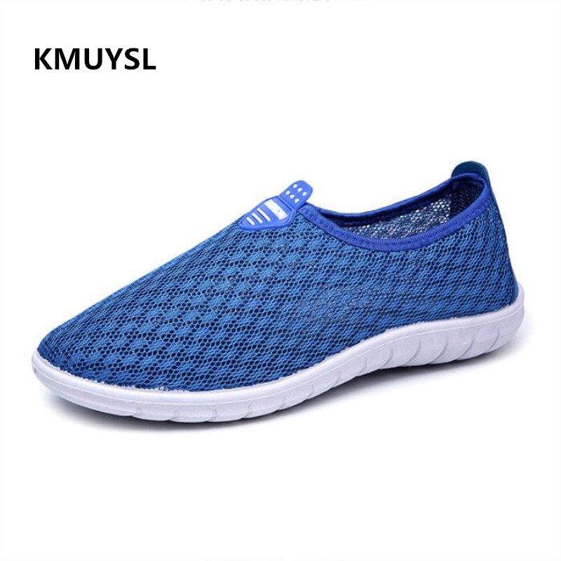 2018 Summer Luxury Men Breathable Sneakers Lightweight Mesh Men Shoes Fashion Slip-on Shoes Casual Male Shoes male lightweight breathable mesh slip on shoes