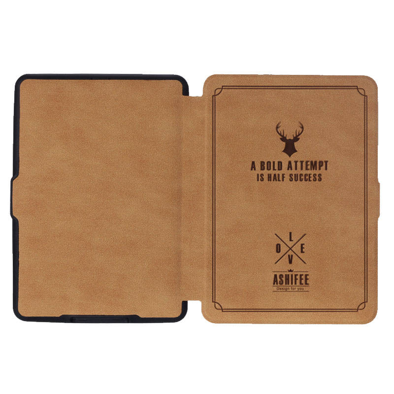 US $7 07 25% OFF Slim For Amazon Kindle Paperwhite 1 2 3 Case Cartoon Deer  Printed PU Leather Cover for Kindle Paperwhite 123 Ebook cover 6''-in