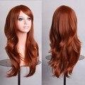 HAIRJOY 70 см Orange Коричневый Волнистые Мода Sexy Женщины Синтетические Волосы Лолита Костюм Партии Cosplay Полный Парик