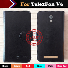 Hot!!In Stock Tele2Fon V6 Case 6 Colors Luxury Ultra-thin Leather Exclusive For Phone Cover+Tracking