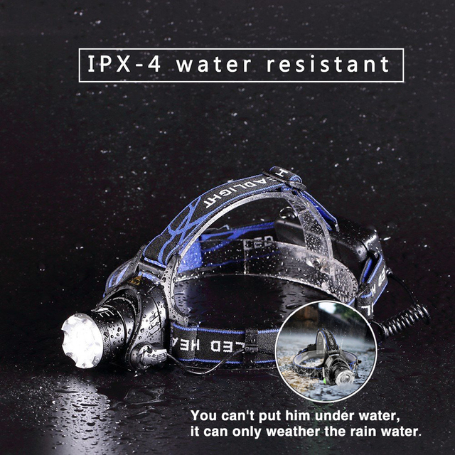 LED headlamp fishing headlight T6/L2/V6 3 modes Zoomable lamp Waterproof Head Torch flashlight Head lamp use 18650 For camping 5