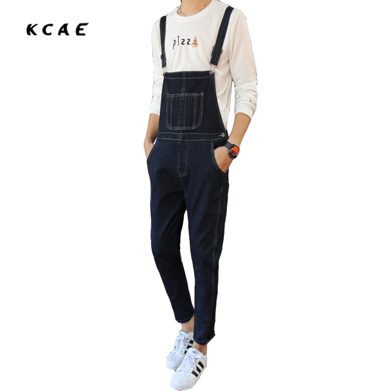 Male Suspenders 2016 New Casual Denim Overalls Blue Jeans Pockets Men's Bib Jeans Boyfriend Jeans Jumpsuits male suspenders 2017 new casual black denim overalls jeans pockets men s bib jeans boyfriend jeans jumpsuits