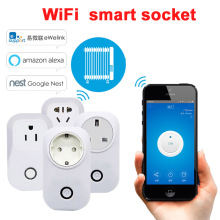 цена на Sonoff S20 Smart WiFi Wireless Socket 10A 2200W Power Supply Plug IOS Android Phone Remote Control for Smart Home EU/US/UK