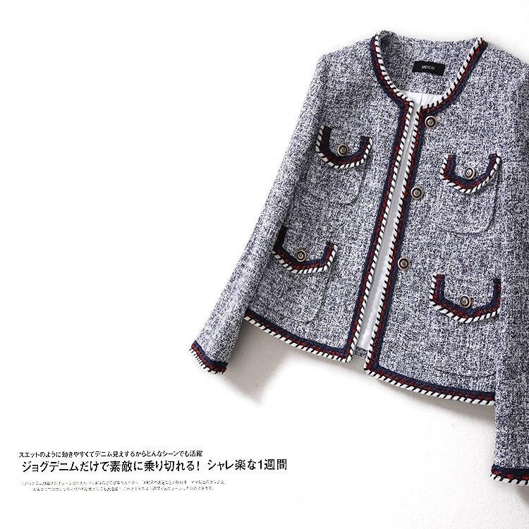 새로운 커팅 wt0015 스트리트 스냅 스타 모델 가을 겨울 트위드 섬세한 쇼 얇은 원사 달콤한 바람 코트와 염색-에서베이식 쟈켓부터 여성 의류 의  그룹 1