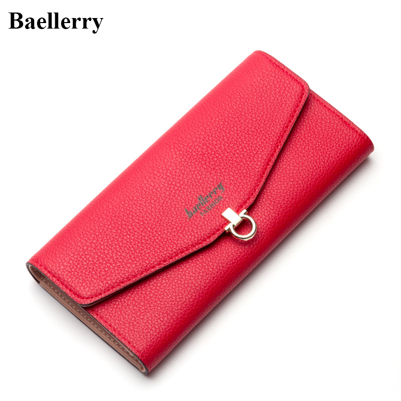 Baellerry Brand Leather Phone Wallets Women Long Red Coin Purses New Hasp Money Bags For Gift Card Holder Clutch Wallets Female 2016 famous brand women clutch wallets top leather long coin purses lady card holder candy color hasp zipper girls phone handbag