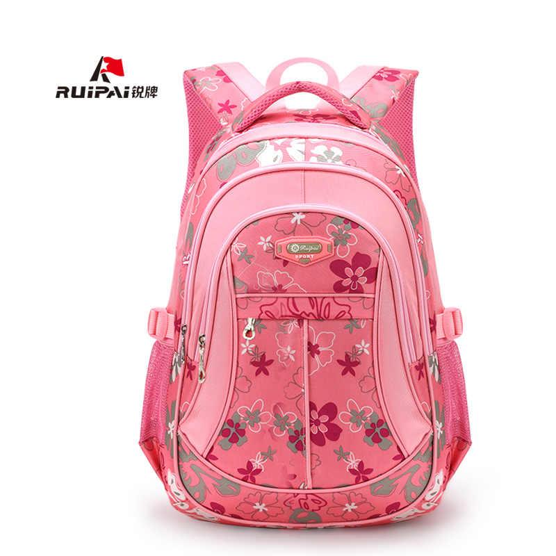 4024a80059b3 RUIPAI школьные ранцы Рюкзак Школьный Мода Дети прекрасный рюкзаки для детей  подростков обувь девочек мальчиков школьн