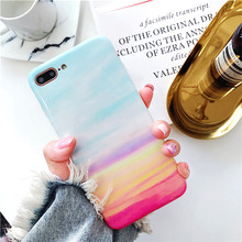 Fashion Marble Phone Case For iPhone 7 6s 6 8 Plus Glossy Soft Back Cover for X Coque Funda