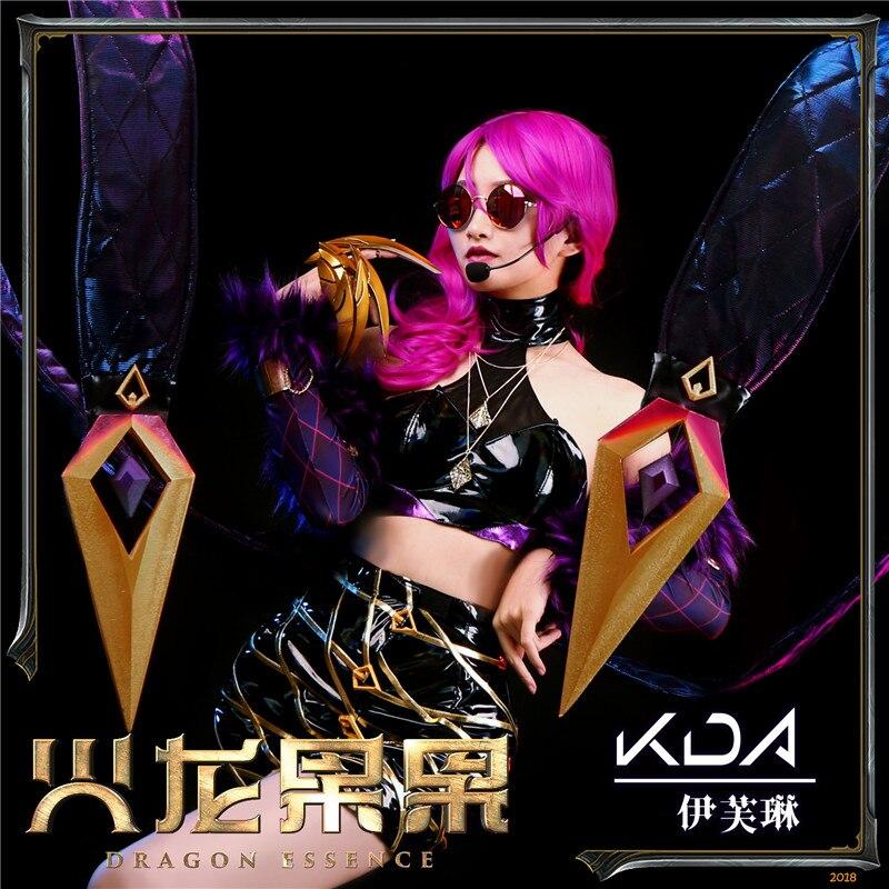 2019 Hot New LOL Idol singer new skin Evelyn Kai Sa cosplay costume New dress Customized