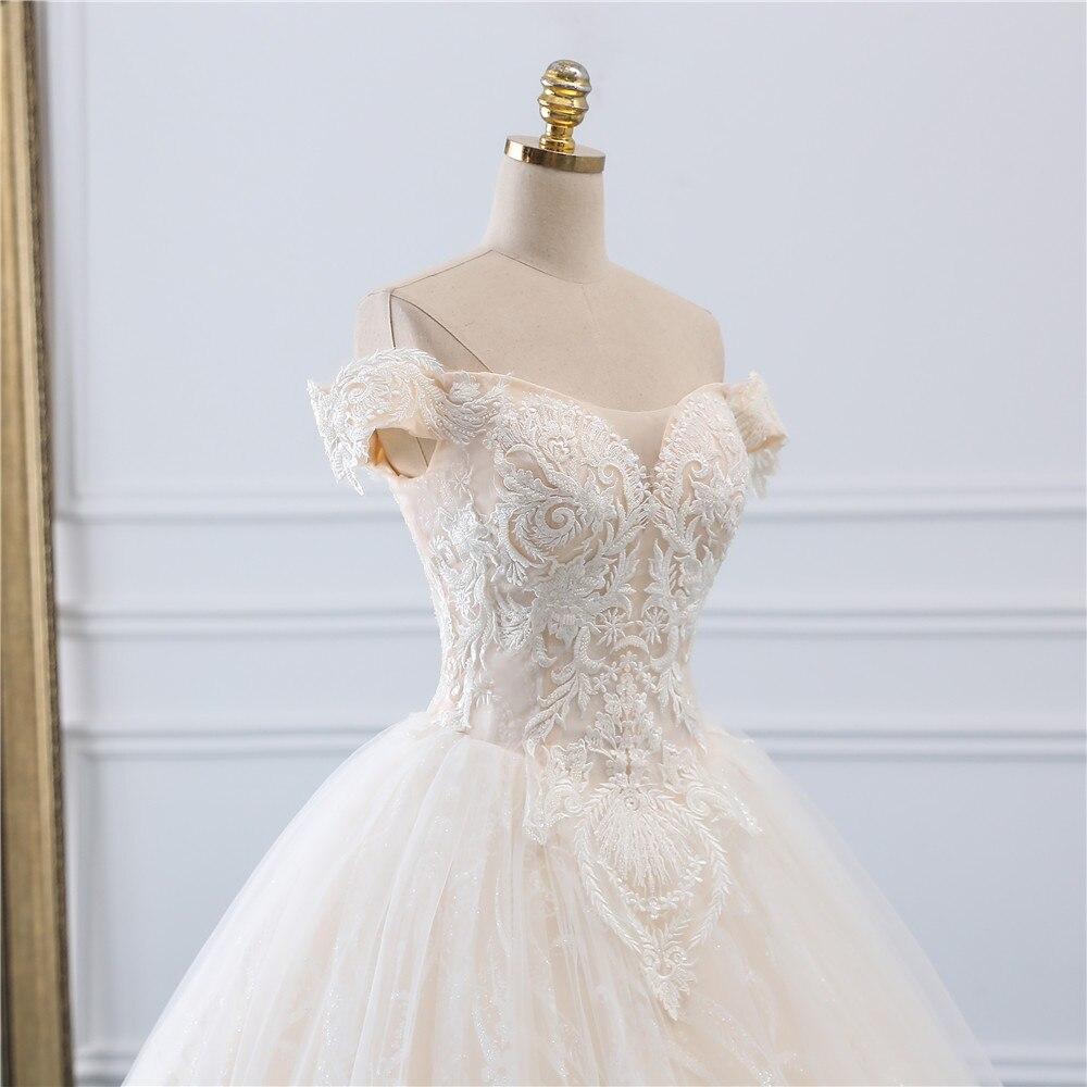 Image 5 - Fansmile, винтажное бальное платье принцессы, качественное Тюлевое свадебное платье, 2019, подгонянное, плюс размер, кружевное свадебное платье невесты, FSM 518F-in Свадебные платья from Все для свадеб и торжеств on AliExpress - 11.11_Double 11_Singles' Day