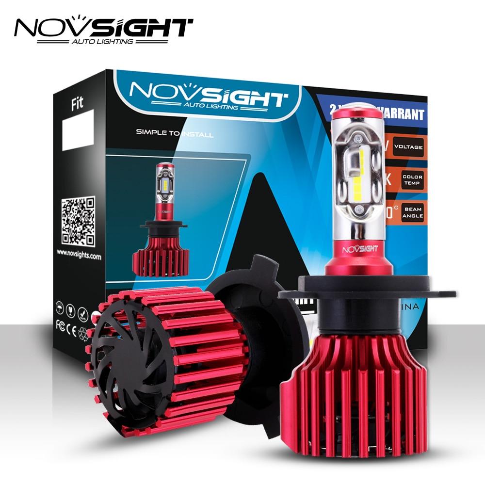NOVSIGHT H4 LED H7 H11 9005 9006 H15 9007 Car Headlights  60W 10000LM 6500K White Fog Light Dual Beam Fog Lamps Bulbs