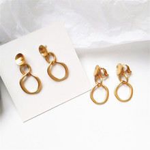 unique Vintage Earrings for women gold color Geometric statement earring 2019 metal earing Hanging fashion jewelry trend