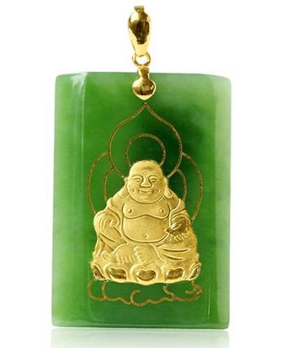 Gold inlaid jade green jade necklaces pendants laughing jade gold inlaid jade green jade necklaces pendants laughing jade buddha necklace laughing buddha jade buddha aloadofball Images