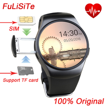 Kingwear KW18 Heart Rate Monitor SmartWatch mtk2502 Bluetooth SIM Card Round Clock Smart Watch for windows iOS Android phone