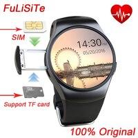 Kingwear mtk2502 KW18 القلب رصد معدل smartwatch بلوتوث sim بطاقة جولة ساعة ساعة لويندوز ios الروبوت الهاتف الذكي