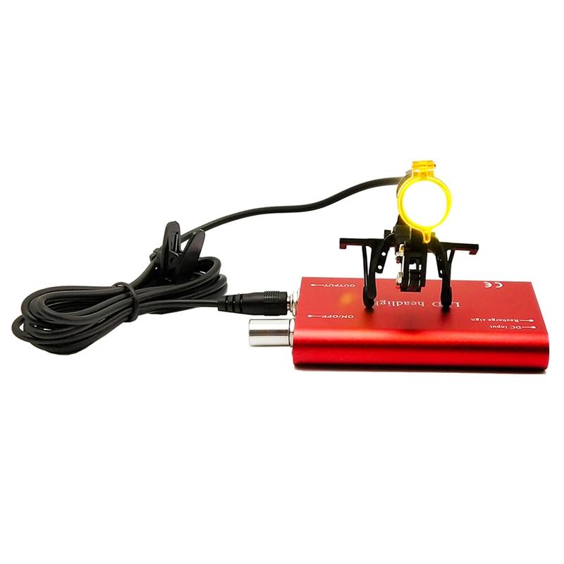 Аккумуляторная батарея медицинский светодиодный свет с застежкой налобный фонарь с световым фильтром Регулируемая яркость операции Хирур...