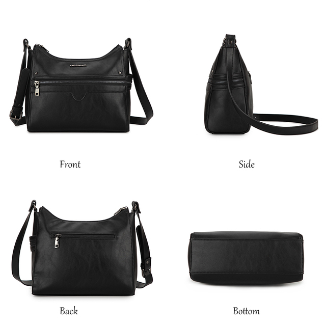 AMELIE GALANTI Women Shoulder Bags Luxury PU Leather Crossbody Bags for Woman Fashion Solid Women Handbag with Cell Phone Pocket
