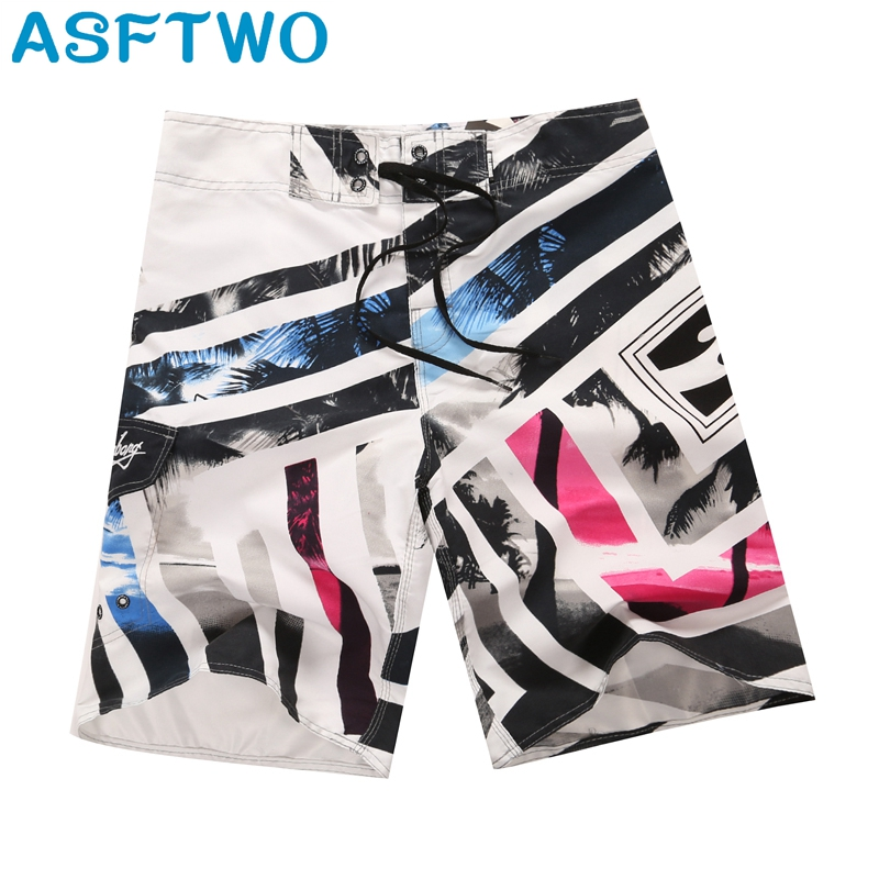 ASFTWO Quick Dry Trunks Male Polyester Beach Pants Men's   Board     Shorts   Striped   Shorts   XL XXL Water Sports   Shorts