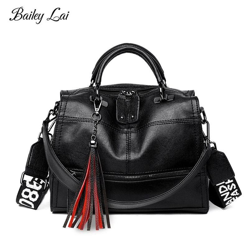 OLD TANG Messenger Bag Women Genuine Leather Women's Shoulder Bags Crossbody Bags for women 2019 Tassel Letter Solid Handbag