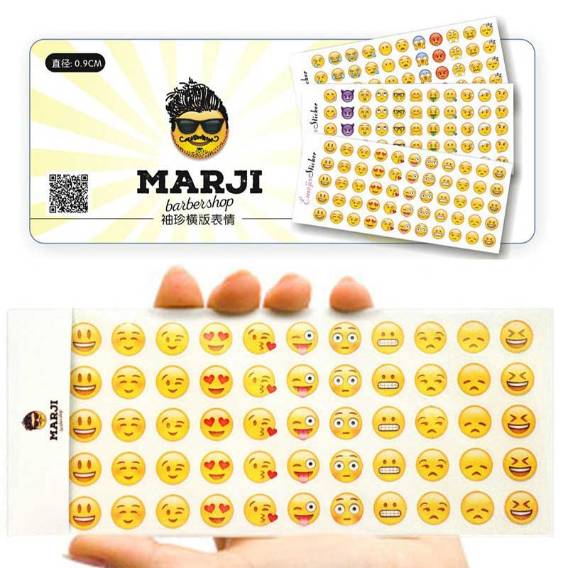 12 sheet sticker 55 Emoji stickers Smile face stickers for notebook, message Twitter Large Viny Instagram Smiling toys niol new cute head portrait sticker smiling face interesting smile face stickers children kids toy for phone notebook message twitter