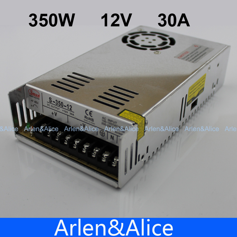 350W 12V 30A Single Output Switching power supply for LED Strip light AC to DC best quality 12v 15a 180w switching power supply driver for led strip ac 100 240v input to dc 12v