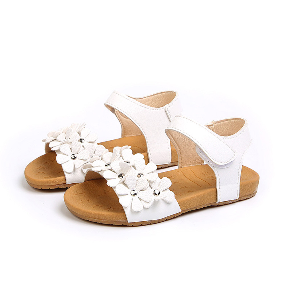 e0bf89671 ①Peridemes 2019 Kids Sandals for Baby Girl Floral Sole Kids Shoes ...