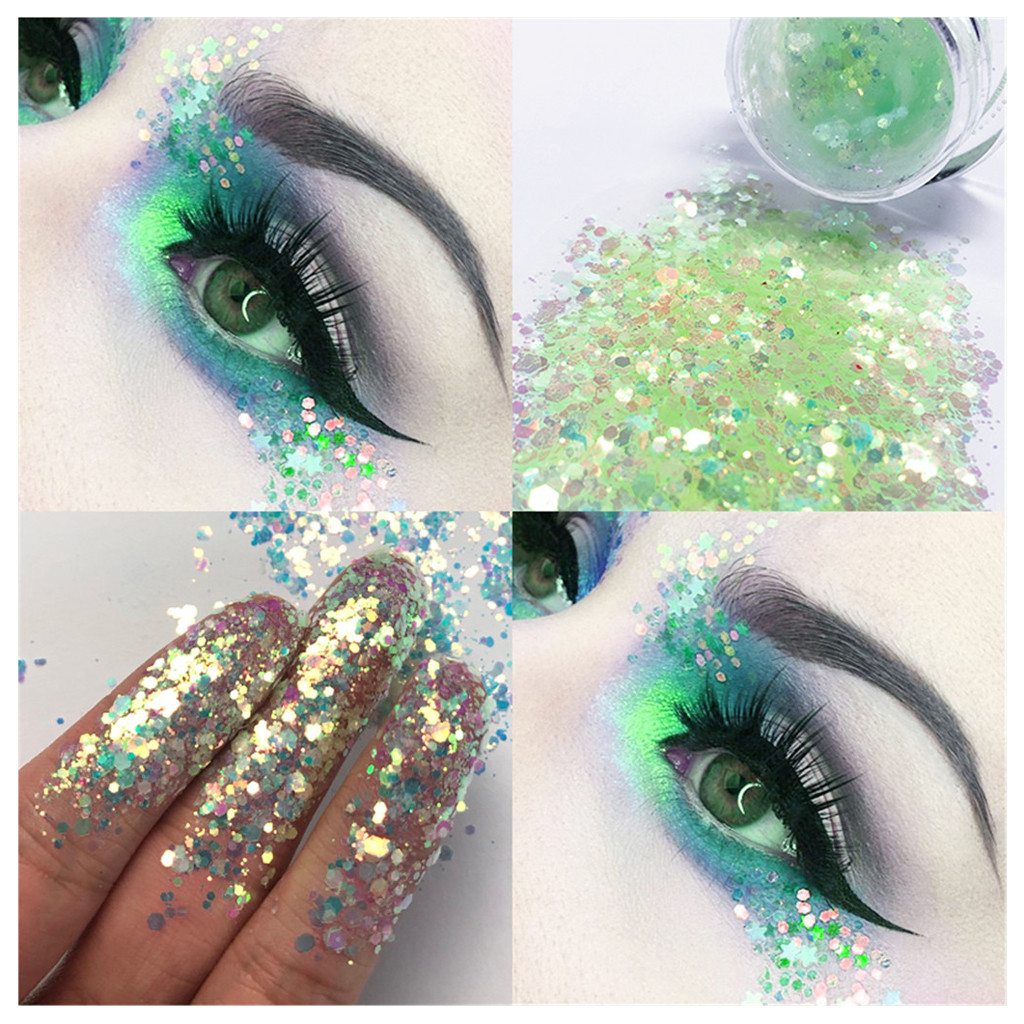 Eye Shadow Glitter Sequins Free Glue Diamond Beads Laser Sequins Eyeshadow Powder Color Matte Eye Shadow Cosmetics Beauty & Health