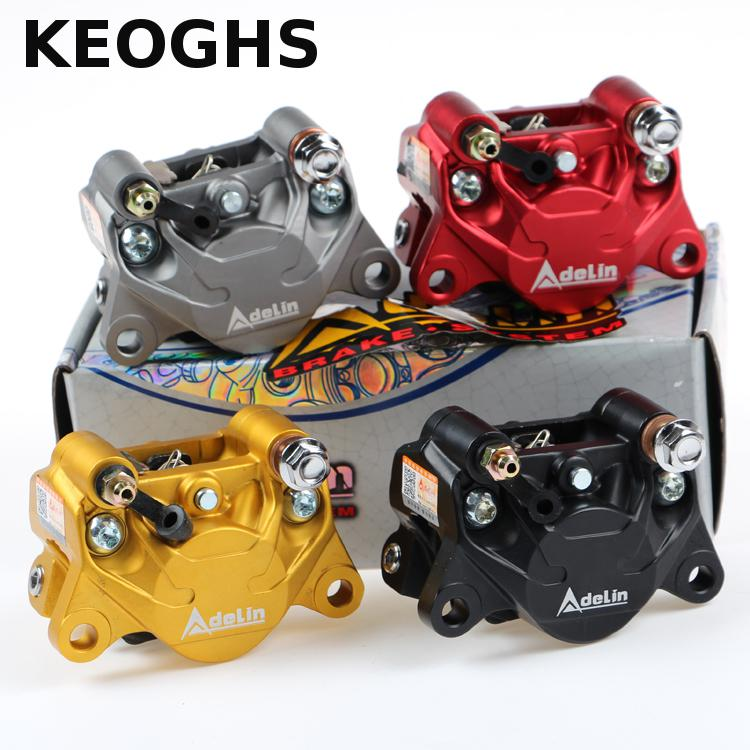 KEOGHS Modified Brake Calipers 84mm Mount/34mm 2 Piston Adelin Adl-17 For Honda Yamaha Ducati Kawasaki Vespa Modify 68mm motorcycle 6 piston brake caliper universal adapter bracket pitch from adelin for honda yamaha ducati kawasaki vespa moto
