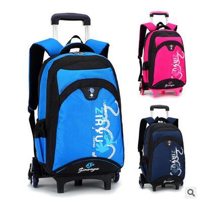 be389762999c Детские школьные тележка рюкзак дети колесных рюкзаки детей rolling Сумка  для подростков поездки тележки багажные сумки на колесах купить на  AliExpress