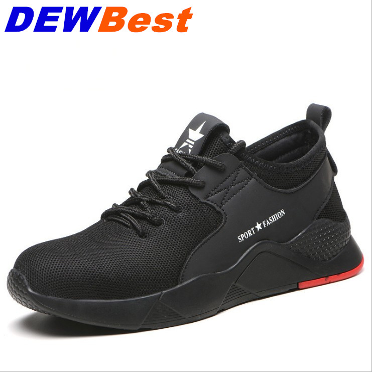 Image 2 - DEWBEST Mens Safety shoes Work Steel Toe Caps Boots Casual Skateboard Sneaker Ankle Protective Footwear-in Safety Shoe Boots from Security & Protection