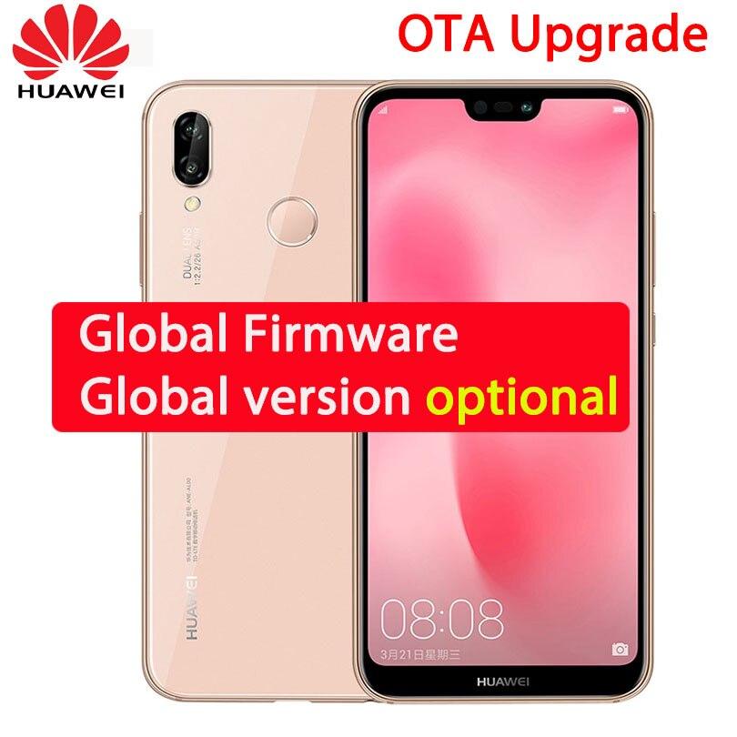 Huawei P20 Lite Nova 3e 4G 6 4G мобильного телефона Octa Core 5,84 дюймов 2280*1080 P 16MP/24MP фронтальная камера 16.0MP + 2.0MP двойной сзади gps