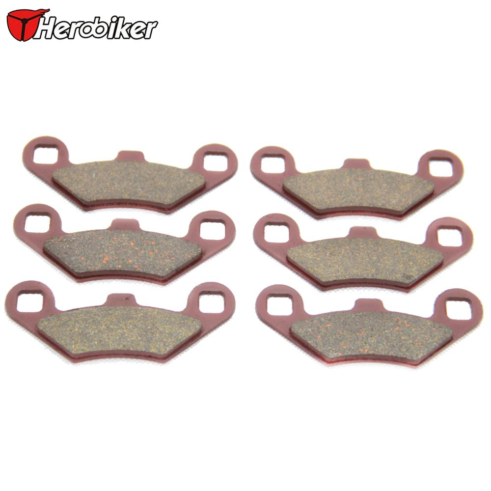 HEROBIKER Sintered Copper Motorcycle Parts Front Rear Back Brake Pads For Polaris ATV 500 Predator TLD 2003 - 2007