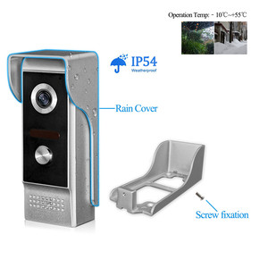 """Image 3 - 7"""" Video Intercom Wired Home Video Door Entry System Waterproof Rainproof IR Night Vision Camera Two way Audio with 1or2 Monitor"""