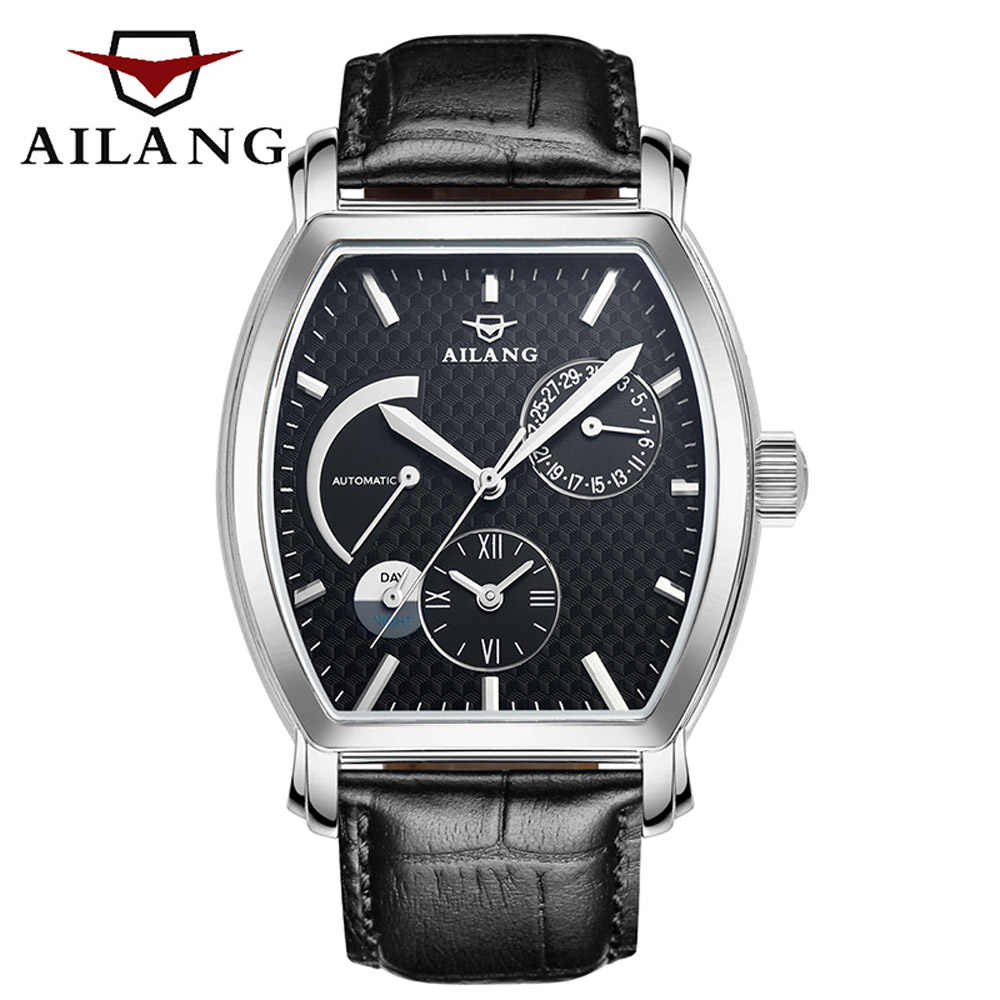 cea1734200df Detail Feedback Questions about AILANG time vintage reloj brand diver watch  adopt swiss gear diesel sport luxury men s leather belt automatic sport  black ...